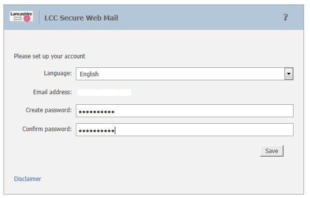 Secure email create account